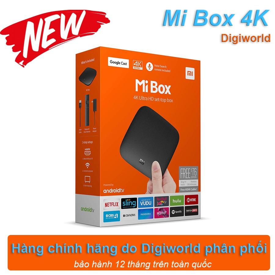 [hàng Digiworld] Mi Box 4K Ram 2G, Bộ nhớ trong 8G, giao diện Android chuẩn cho TV Box