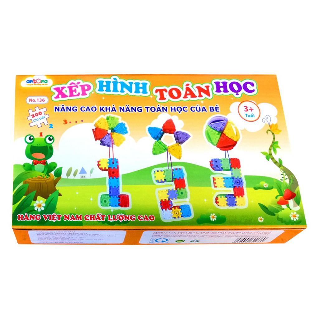 Đồ chơi Hình Vuông Diệu Kỳ Xếp Hình Toán Học Antona (Việt Nam)