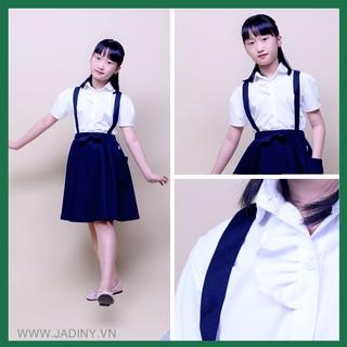 Áo sơ mi bèo ngực nữ, áo đồng phục học sinh cấp 1, cấp 2,cấp 3 ,đồ đi học xinh cho bé gái rẻ- bền - đẹp GDP001