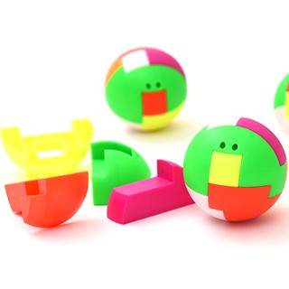 ღღ 2pcs baby toys intelligence colorful puzzle assembly ball kids game