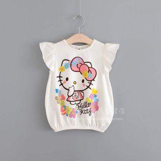 Áo hello kitty bé lớn. Size cho bé từ 22kg đến 45kg. Chất thun cottong 4 chiều mềm mịn, co giãn tốt.