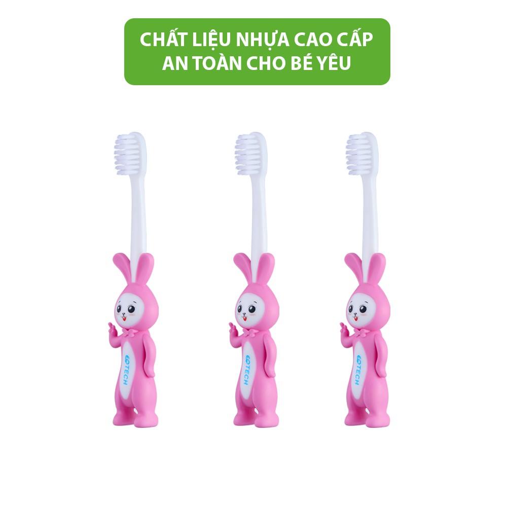 Bàn chải đánh răng cho bé hình con thỏ EQ Tech Junior Rabbit bàn chải đánh răng lông mềm cho bé bảo vệ nướu và răng