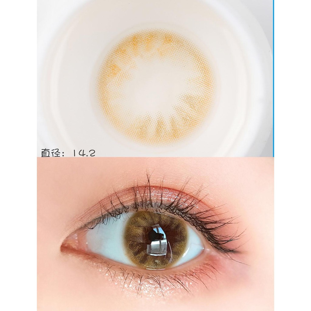 (1pair)(20.Feb.27)MC Series,Bola Brand,14.2mm,Silicone Hydrogel,Contact Lens yearly use(brown)