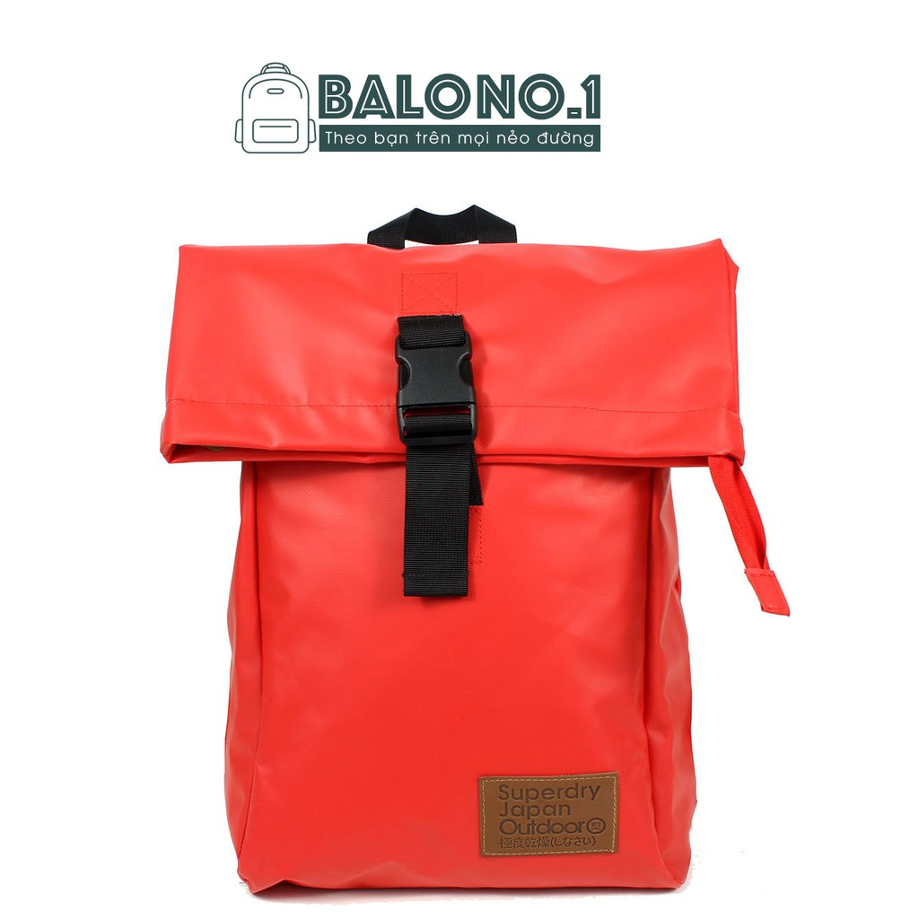 Balo Chống Thấm Nước Superdry Deluxe Backpack Red