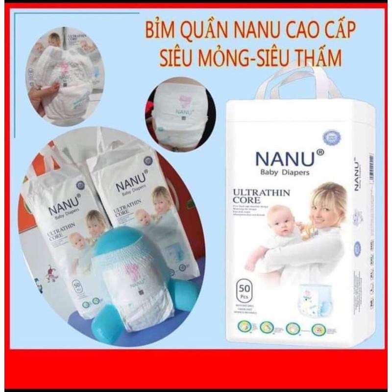 Bỉm quần Nanu size M/L/XL/XXL 100 miếng