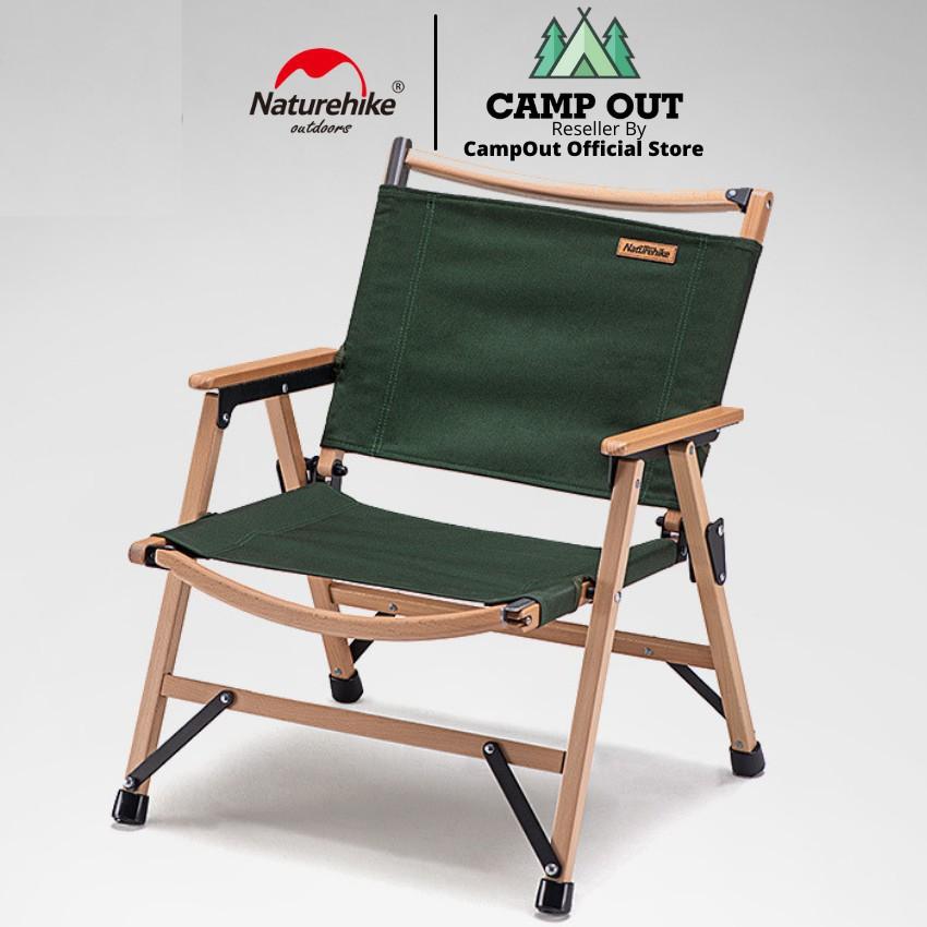Ghế xếp Naturehike cắm trại dã ngoại  du lịch ghế gấp xếp gỗ sồi Campoutvn A044