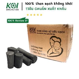 5KG Than xông hơ sau sinh KOI Binchotan Không Khói Không Độc an toàn khi xông hơi mẹ và bé - tiêu chuẩn Nhật Bản JIS