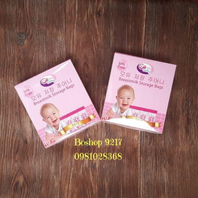 [⚡️ Sale ⚡️] túi đựng sữa cho bé tiện dụng - GB baby - hộp 50 túi | Tại Hà Nội