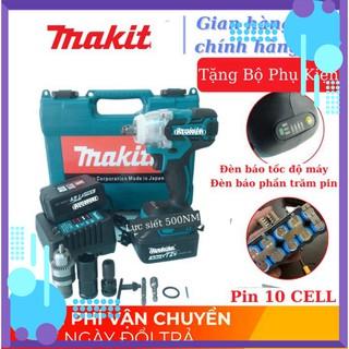 [Chính Hãng] Máy siết bulong Makita 72v, 2 pin, đầu 2 trong 1, 100% dây đồng, không chổi than, TẶNG bộ phụ kiện . .