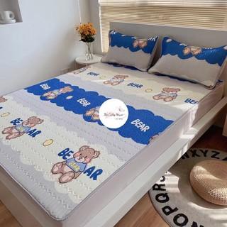 (Single bed) Chiếu cao su non êm mềm mát mùa hè cho nàng