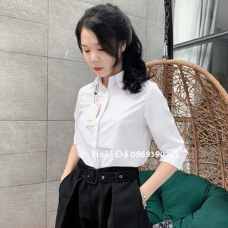 Áo Sơ Mi Nữ Trắng Công Sở, Dáng Suông (40-65kg), Giấu khuy áo. Chất vải cực đẹp [SP có Video]