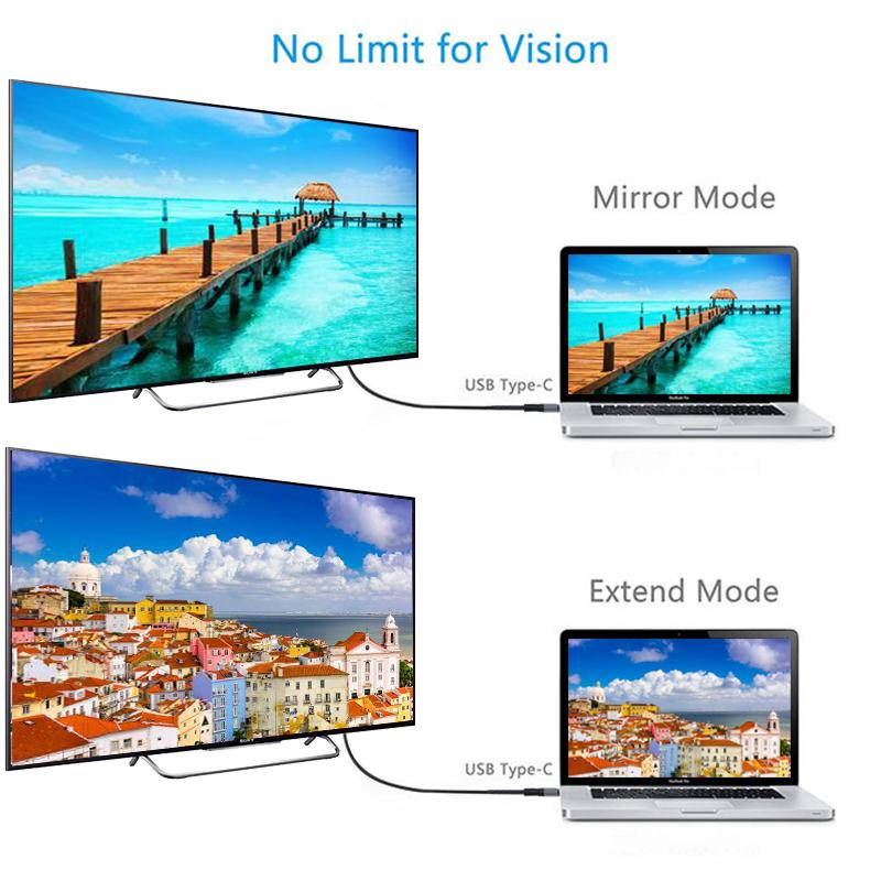 Cáp chuyển đổi USB type-C 3.1 sang HDMI hỗ trợ HD 4K 2M