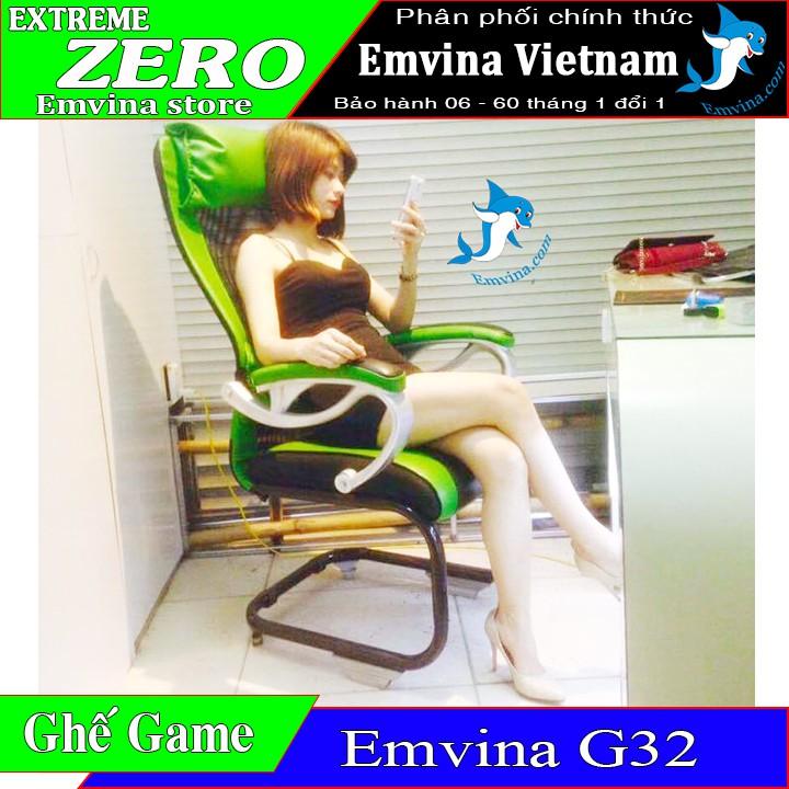 Ghế chơi game EMVINA G32 huyền thoại 2 gối êm ái thép đôi chịu lực đến 120kg phù hợp văn phòng học tập nhiều màu sắc