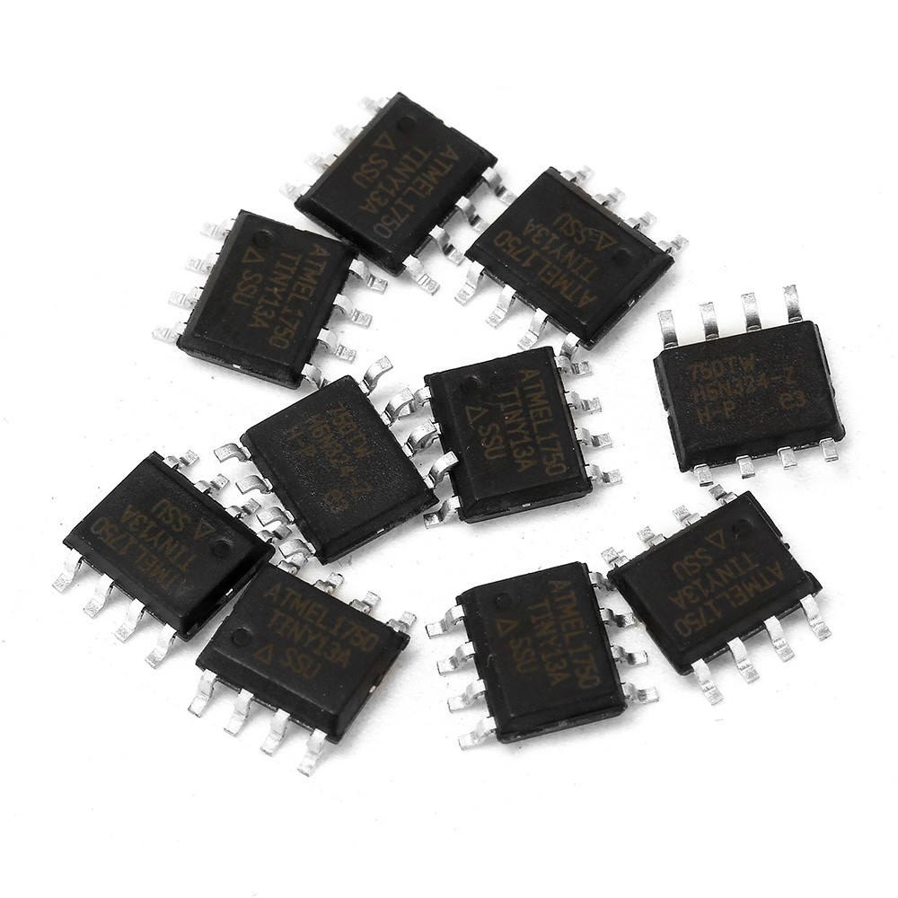 In stock*10Pcs ATTINY13 ATTINY13A TINY13A MCU AVR 1K FLASH 20MHZ 8SOIC IC (ATTINY13A-SSU)*Good item