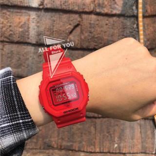 Đồng hồ thể thao nam nữ Shock điệm tử dây silicon mặt vuông Spk34