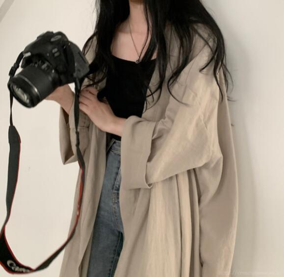 Áo khoác mỏng phong cách Hàn Quốc thời trang xinh xắn cho nữ