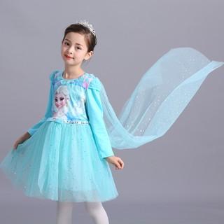 SALE SỐC Váy bé gái Elsa Frozen tay dài TẶNG tà dài M333