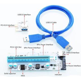 DÂY Riser PCIe 1x To 16x USB 3.0 cao cấp mới 100%