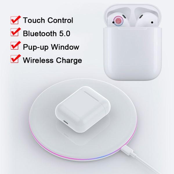 Tai nghe bluetooth Mate-9 -  Nhét tai thể thao Airpod Bluetooth - Hỗ Trợ Sạc Không Dây 1 : 1(cảm ứng  ) - senvangshop