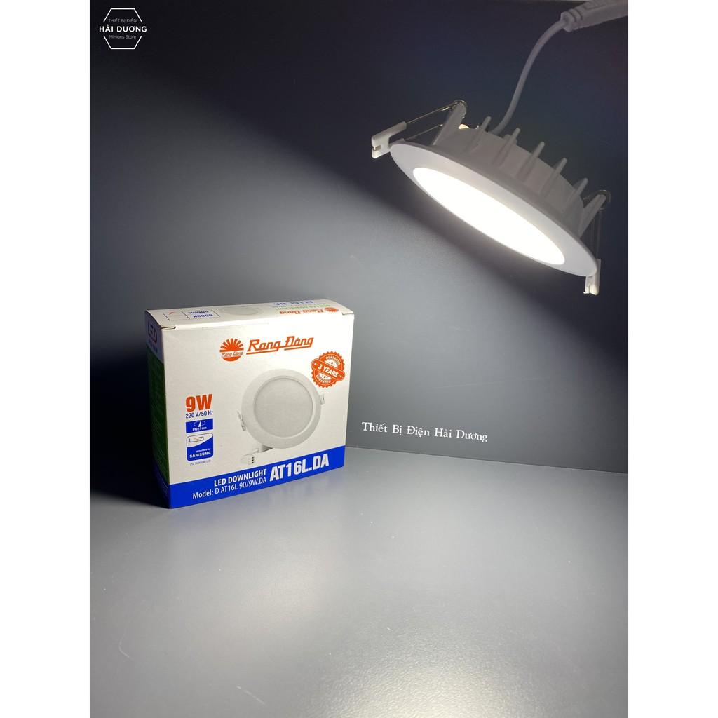 Bộ 3 Đèn Led Downlight Rạng Đông Âm Trần D AT16L 90/9W.DA - Ánh Sáng Trung Tính - Bảo hành 3 năm