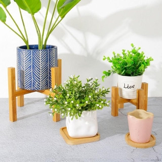 [COD] Garden Wooden Square Round Polygon Mini Succulent Plants Trays Flower Pots Trays Coaster