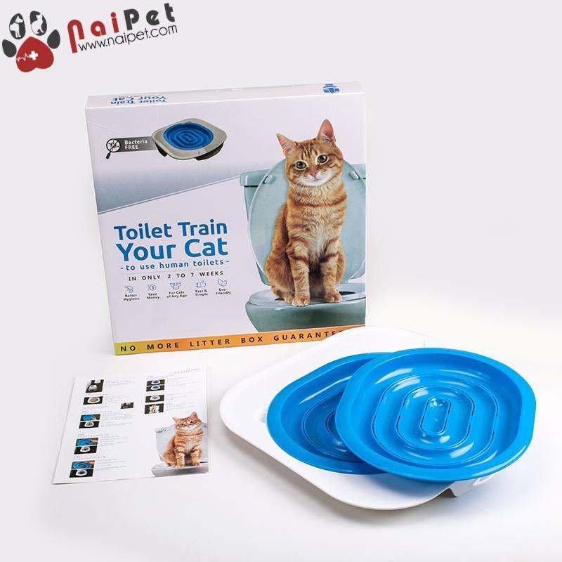 Bộ Huấn Luyện Mèo, Dậy Mèo Đi Vệ Sinh Vào Bồn Cầu Toilet Train Cao Cấp