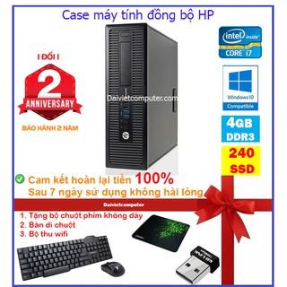 Case máy tính để bàn đồng bộ HP CPU i7 4790 / RAM 4GB / SSD 240GB