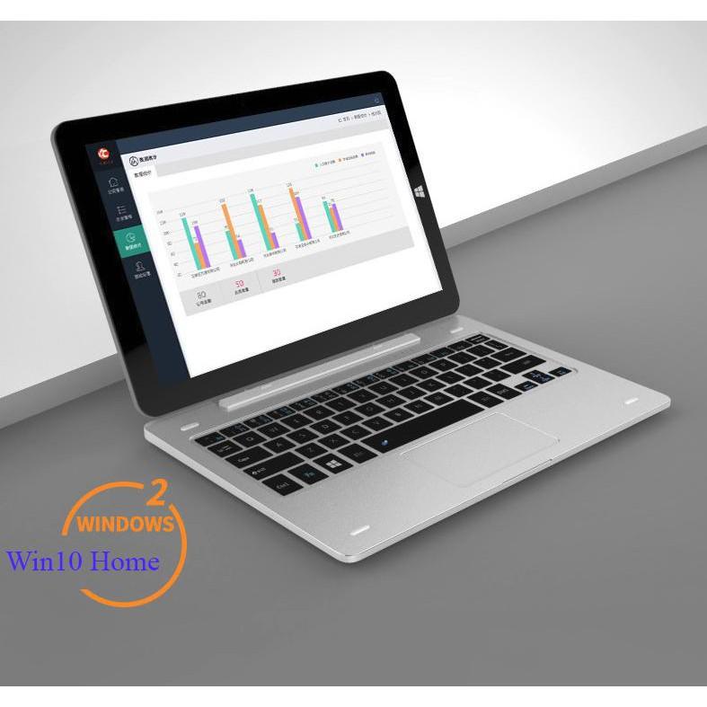 Máy tính bảng Tablet Onda oBook20 Plus Ram 4G, 64Gb SSD, HDMI 4K Dual Win10/Android (tặng Dock, bút cảm ứng)(Bạc 64GB) | SaleOff247