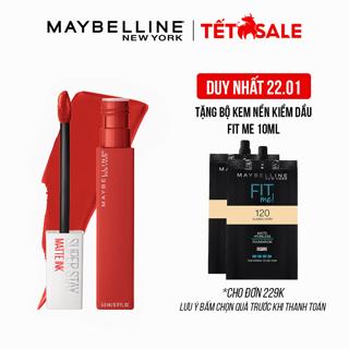 """Son Kem Lì 16h Lâu Trôi Maybelline New York Super Stay Matte Ink City Edition Lipstick 5ml giá chỉ còn <strong class=""""price"""">14.900.000.000đ</strong>"""