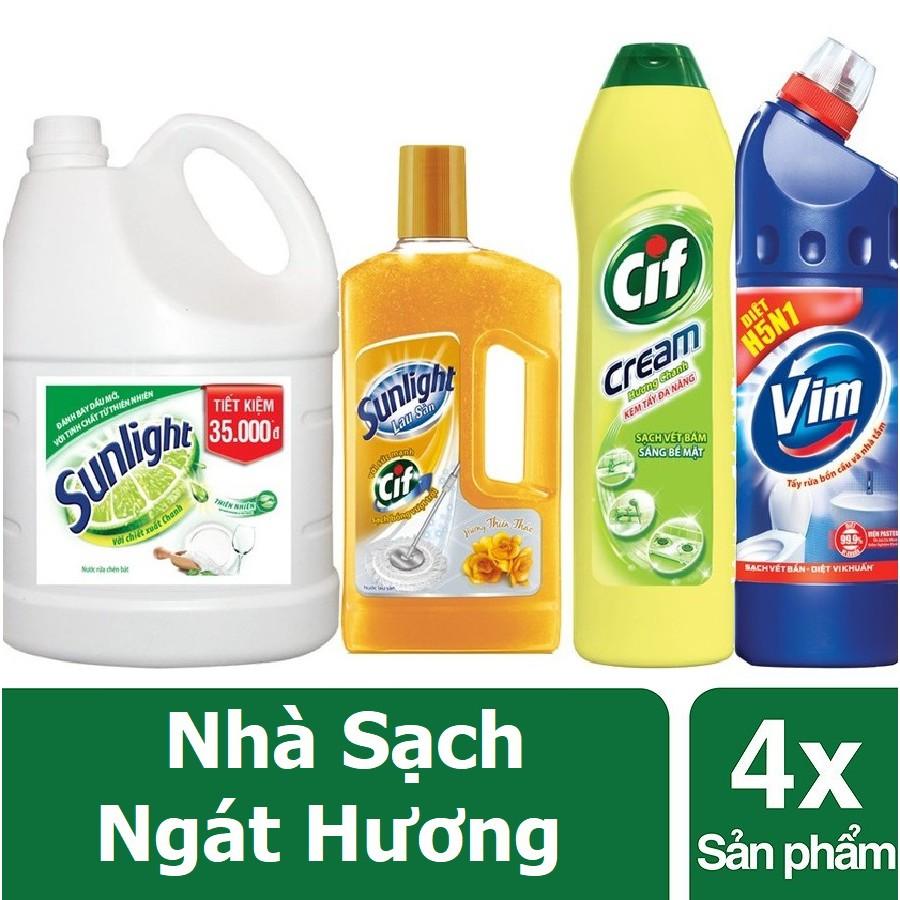 Combo Nhà sạch ngát hương (MSP 67028149-67125184-67077663-21105373)