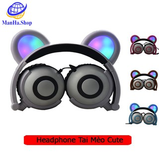 Tai nghe mèo cute dễ thương cao cấp, Headphone tai mèo cute cho nữ âm thiết kế chống ồn âm thanh trầm ấm, MDT098