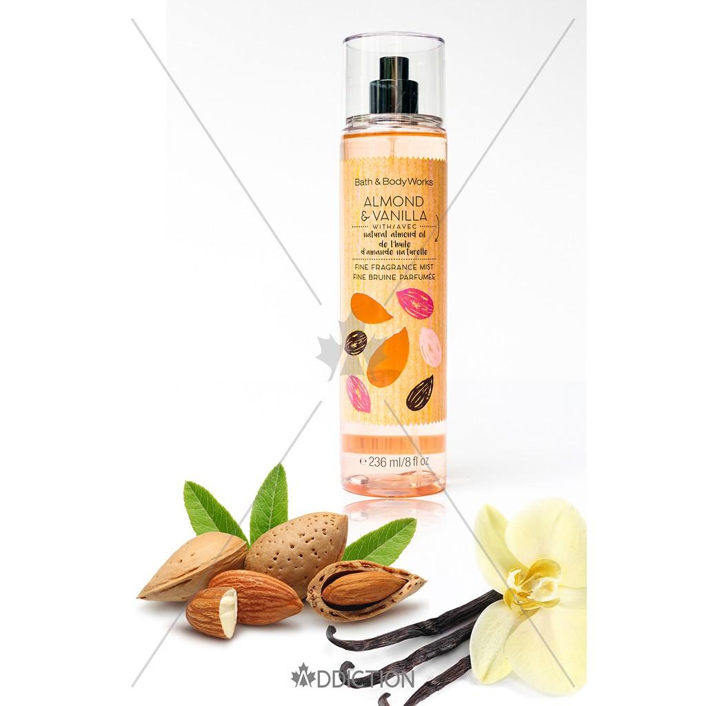 Xịt thơm toàn thân Almond Vanilla-Bath & Body Works (236ml)