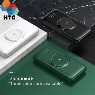 Pin sạc dự phòng 20000 mAh Cyke P1 Plus tích hợp 3 dây sạc nhanh cùng với sạc không dây thumbnail