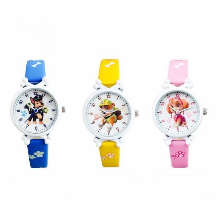 Đồng hồ dây da họa tiết hoạt hình Paw Patrol cho bé trai/bé gái