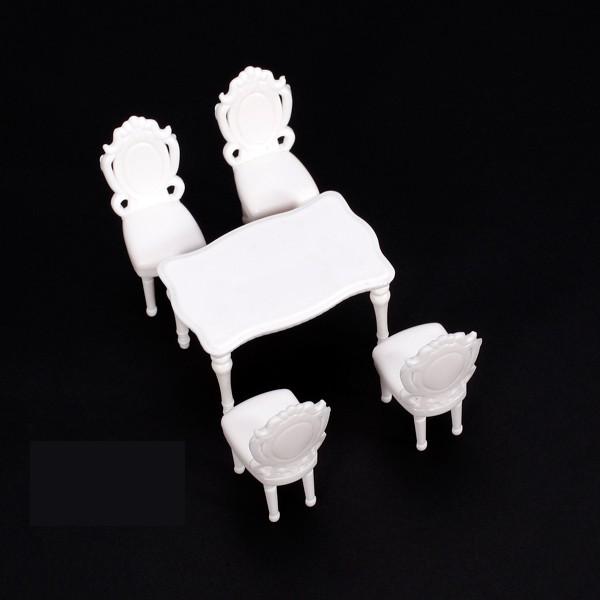 5pcs Inner Landscape Scenery Model Dining Room Table Set w/ 4 Chair 1:25