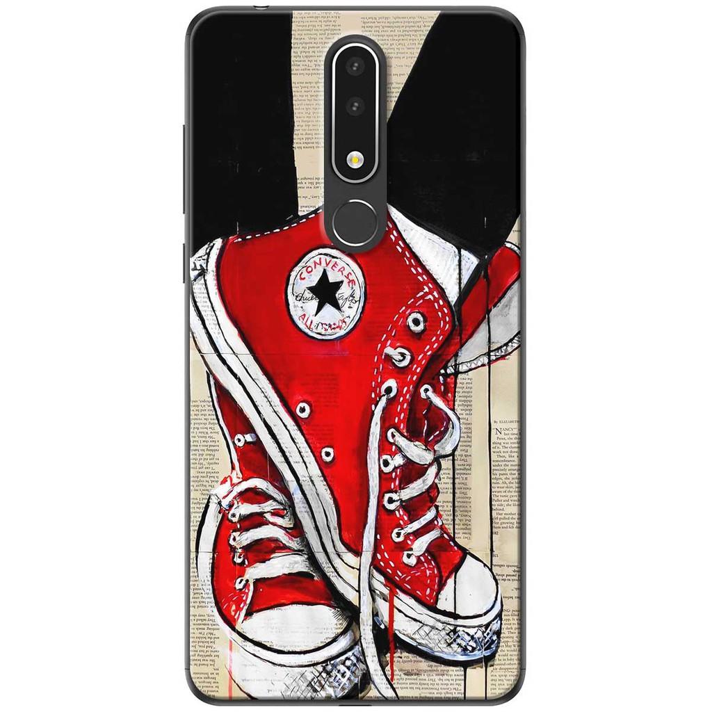 Ốp lưng nhựa dẻo Nokia 3.1 Plus Giày đỏ