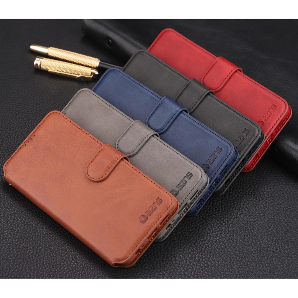 Samsung Galaxy M30 A10 A20 A30 A50 Flip Cover Faux Leather Phone Case