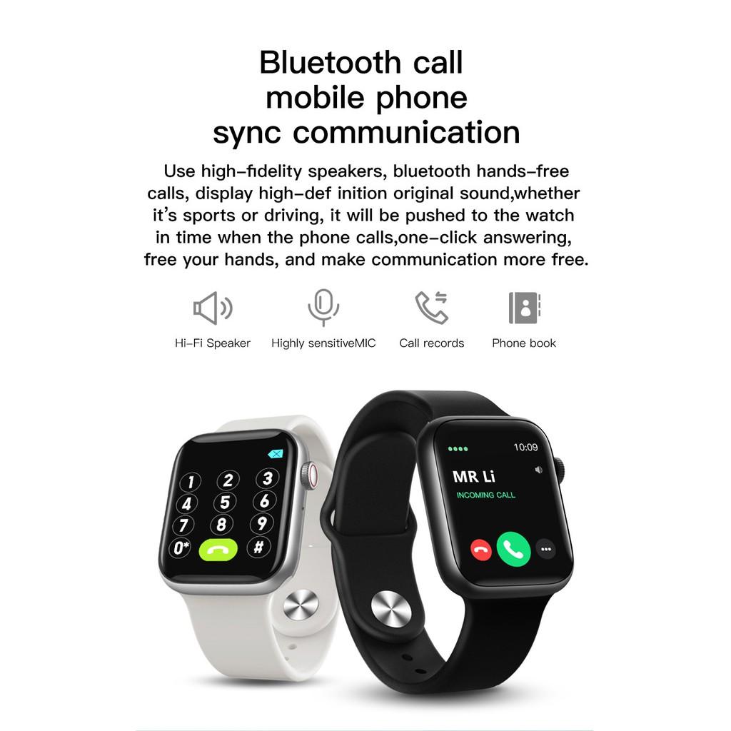 """Bộ Đồng Hồ Thông Minh Bluetooth 6 T500 + Plus Pro 1.75 """"ips Giám Sát Nhịp Tim & Huyết Áp Điện Thoại"""