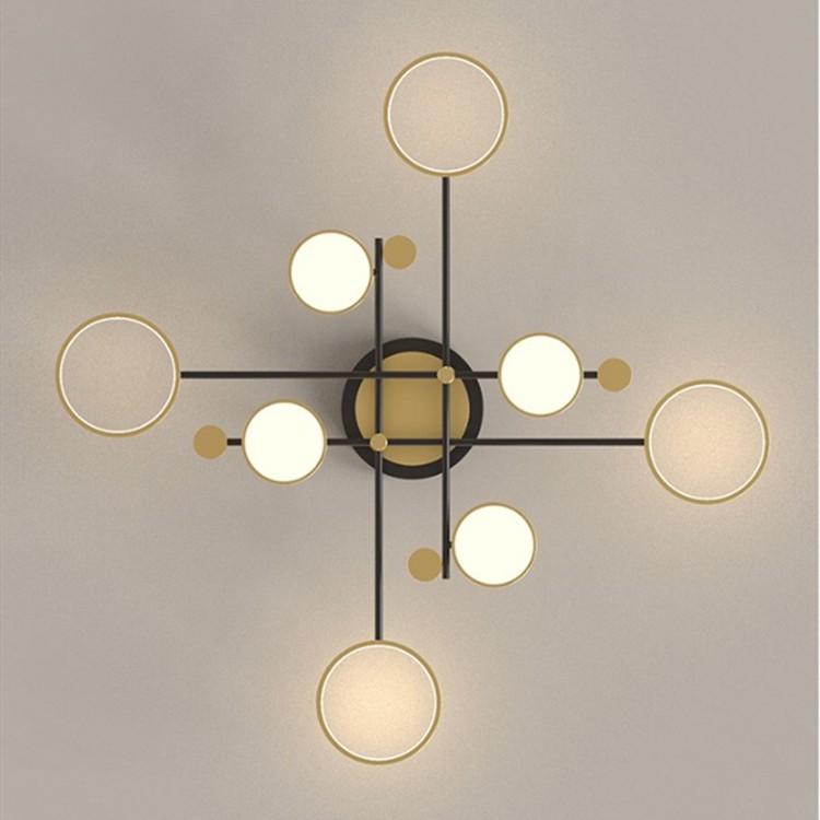 [Bảo Hành 2 Năm] Đèn Chùm Hiện Đại Trang Trí Phòng Khách Phòng Ngủ,Đèn Led Sáng 3 Chế Độ Siêu Sáng,Đường Kính Rộng 126cm
