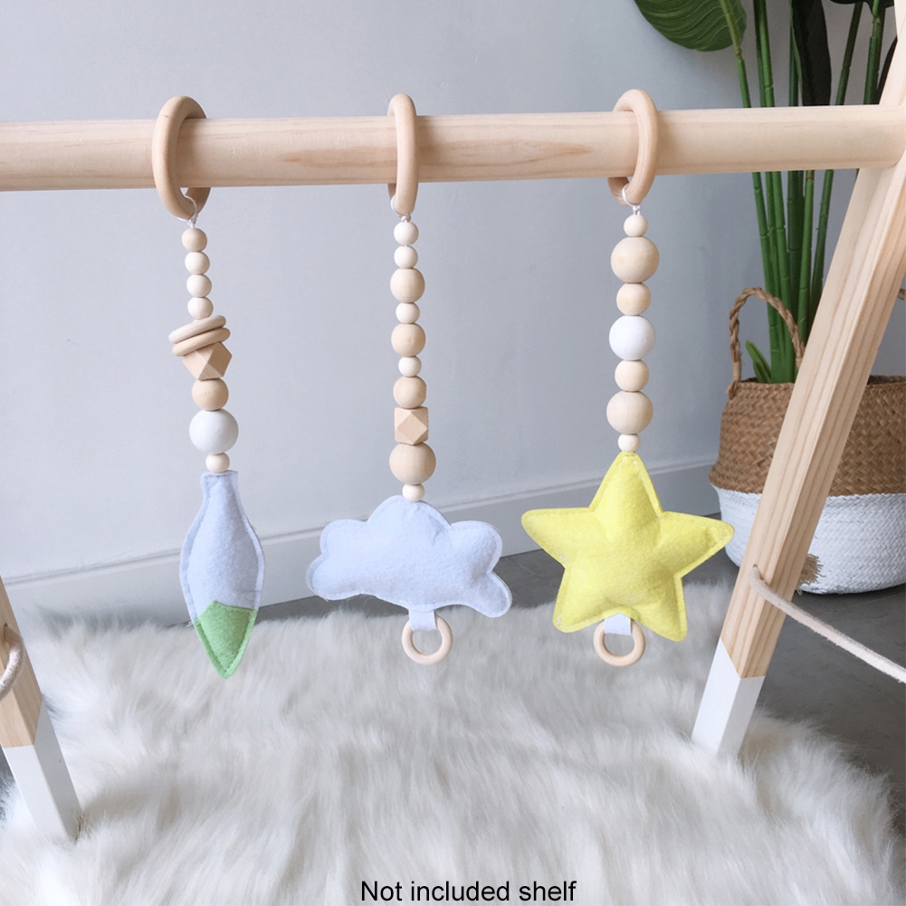 3pcs Room Decor Baby Nordic Style Home Cartoon Felt Hanging Pendant Set