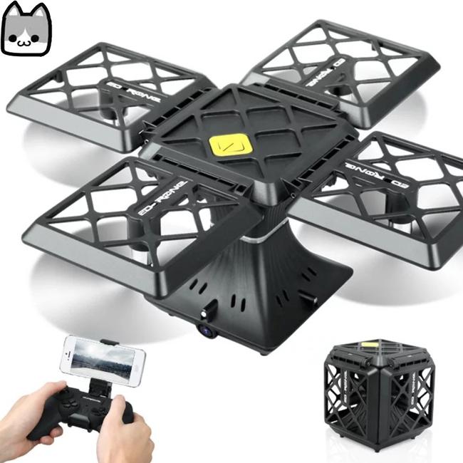 Mini HD Square Folding Four-axis Aircraft Aerial Camera Remote Control Aircraft