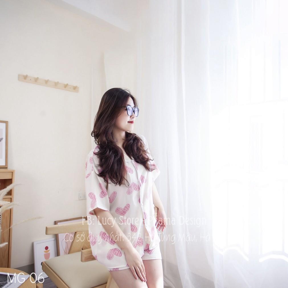 Mặc gì đẹp: Gọn tiện với Đồ bộ pijama - bộ ngủ nữ lụa mango hàng thiết kế cao cấp chất siêu mát không nhăn mặc quần áo ngủ mặc ở nhà dễ thương