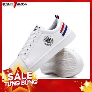 Giày Nam Sneaker Thể Thao Thedapperman TDM7635 Trắng Gót Đỏ Xanh – Hàng nhập khẩu