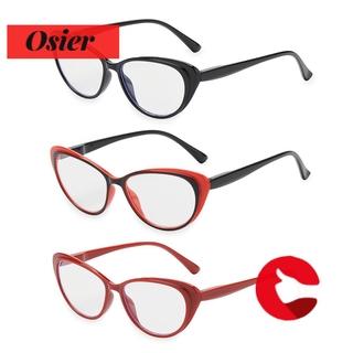 👒OSIER🍂 Vintage Presbyopia Eyeglasses Women & Men Spring Hinge Reading Glasses Ultra-clear Vision Round Floral Frame Fashion Anti Glare Readers Eyewear black/red black/black