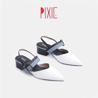 Giày Cao Gót 3cm Bản Ngang Khoá Mix Nhiều Màu Pixie X751 thumbnail