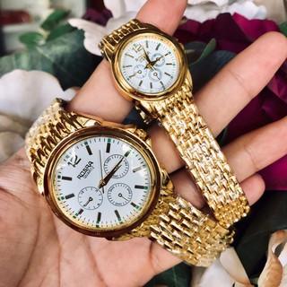 Đồng hồ thời trang nam nữ Rosra MS09 mặt trắng dây nhuyễn