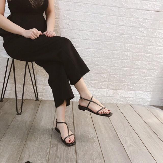 Sandal xỏ dây mảnh xéo (hàng đẹp) ( đặt lên 1 sz)