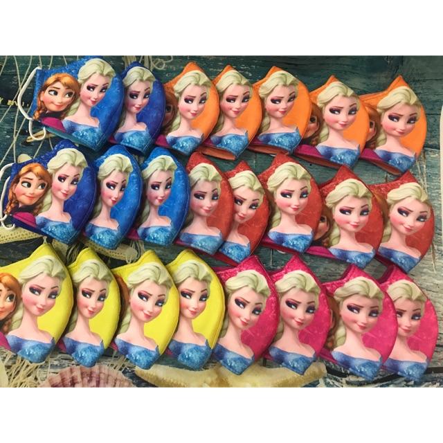 Khẩu trang Elsa và Anna cho bé gái 3-8tuoi