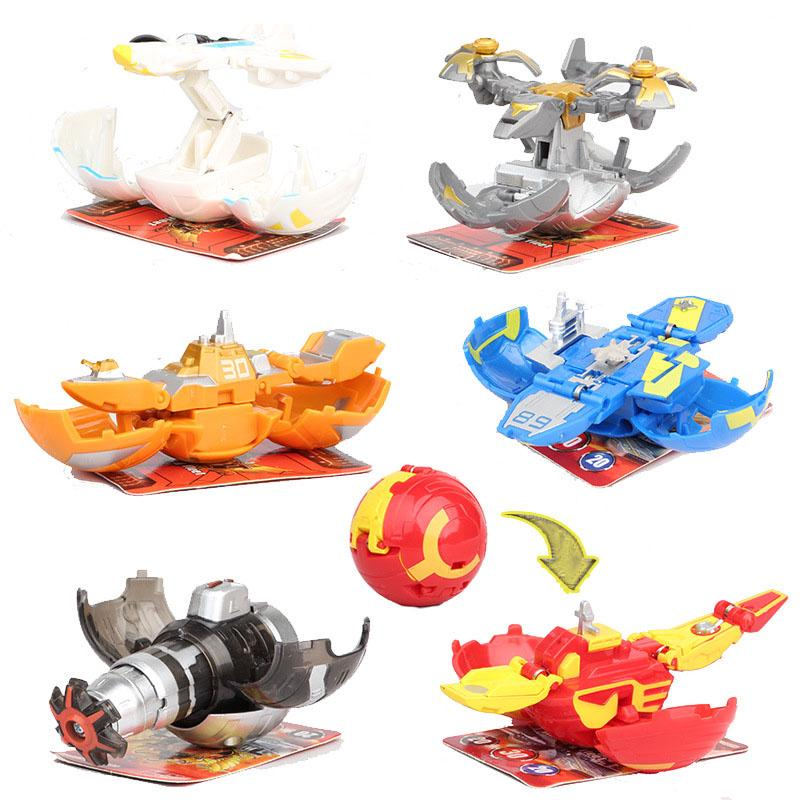 6pcs/set Animated toy BAKUGAN Action Figure Toy Transformation Toys Game For Children Gift