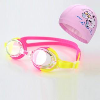 Bộ kính bơi trẻ em POPO 830, mũ bơi trẻ em ngộ nghĩnh, bộ 2 nút bịt tai kính bơi chất lượng Nhật Bản